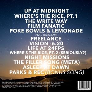 Jon Asato CD Back